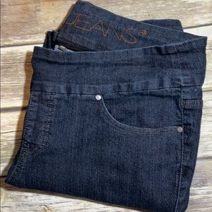 Jag Jeans Pull On Curvy Straight 18W x 32 Stretch